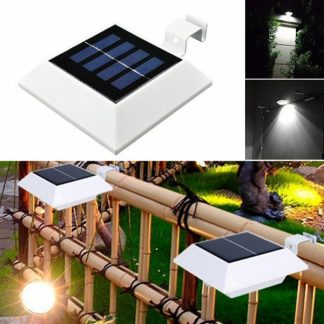 5M 0.2W 4 LED Solar Power Lamp Sensor Light