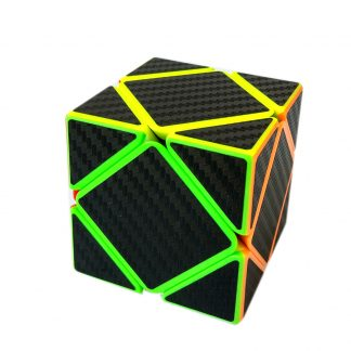 Z-cube Carbon Fiber Skewb Sticker Speed Smooth Magic Cube Fidget Cube