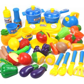 34Pcs Children Pretend & Play Kitchen Cutting Toy Set Home Educational Toy