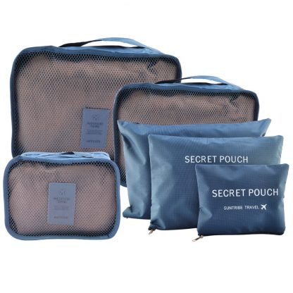 6Pcs Set Waterproof Travel Storage Bags Packing Cubes Clothes Pouch Luggage Organizer