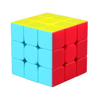 New Qiyi Mofangge Warrior W 3x3x3 Stickerless Speedcube Vivid Color Scheme