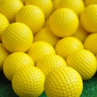 20-Pack Yellow PU Foam Golf Practice Balls Indoor Outdoor Training