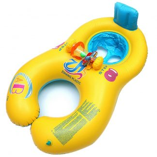 Inflatable Mother-Baby Swimming Ring Float Chair Seat Kids