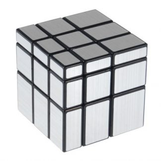 Mirror Blocks Irregular Puzzle Speed Cube 57mm Black Silver